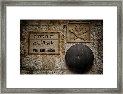 Via Dolorosa Station V Framed Print by Stephen Stookey