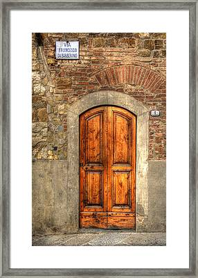 Via Francesco Framed Print
