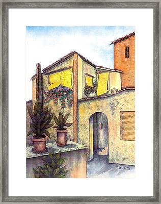 Via Roma Framed Print by Pamela Allegretto