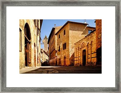 Framed Print featuring the photograph Via San Giovanni by Fabrizio Troiani