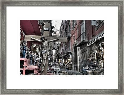 Via San Gregorio Armeno Framed Print
