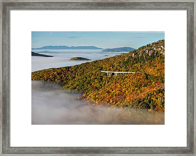 Viaduct In Autumn Framed Print