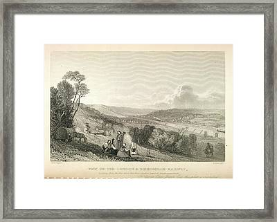 Viaduct Over The River Colne Framed Print by British Library
