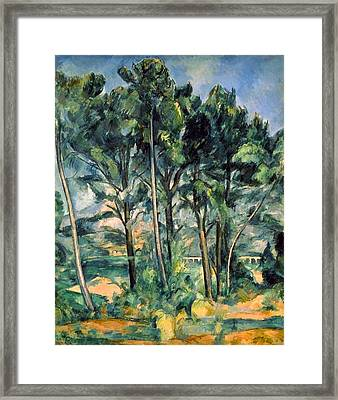 Viaduct Framed Print by Paul Cezanne