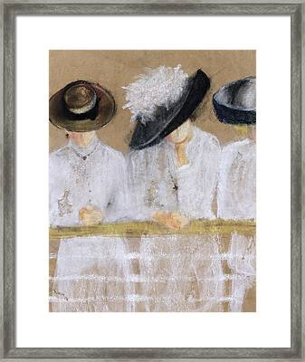 Viaggio Per Mare, 2004 Pastel And Collage On Paper Framed Print