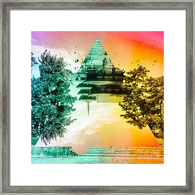 Vibrant Ancient Temple And Pagoda Framed Print by Beverly Claire Kaiya