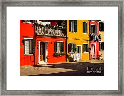 Vibrant Burano Framed Print