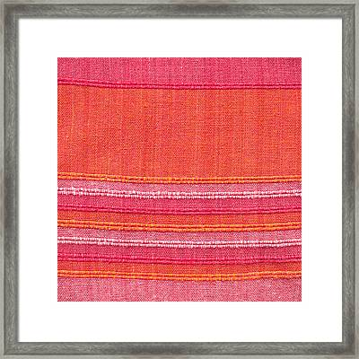Vibrant Cloth Framed Print