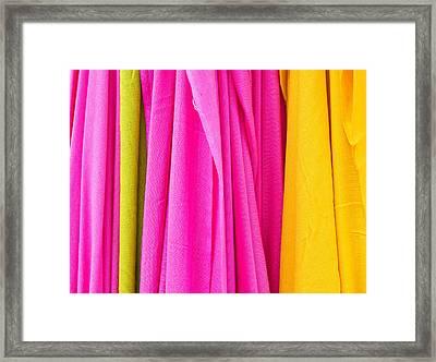 Vibrant Cloths  Framed Print