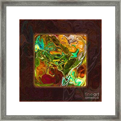 Vibrant Fall Colors An Abstract Painting Framed Print
