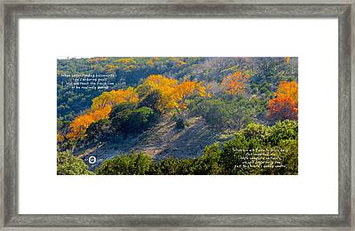 Vibrant In Faith Framed Print by David  Norman