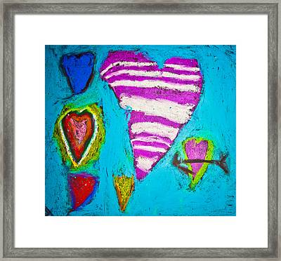 Vibrant Love Framed Print by Sara Frank