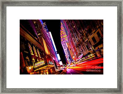Vibrant New York City Framed Print by Az Jackson