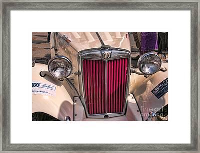 Vibrant Old M G Framed Print