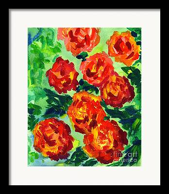 Indiana Flowers Paintings Framed Prints