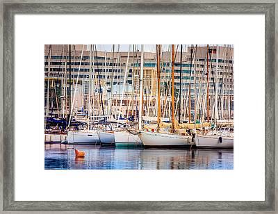 Barcelona Port Framed Print