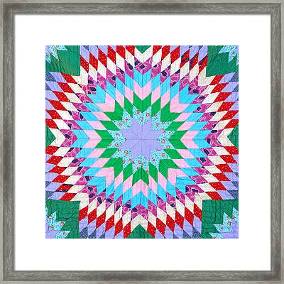 Vibrant Quilt Framed Print by Art Block Collections