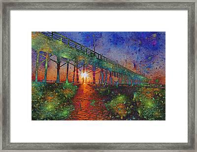Vibrant Sunrise Framed Print
