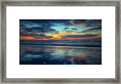 Framed Print featuring the photograph Vibrant Sunrise  by Sharon Jones