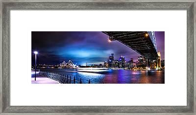 Vibrant Sydney Harbour Framed Print