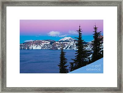 Vibrant Winter Sky Framed Print by Inge Johnsson