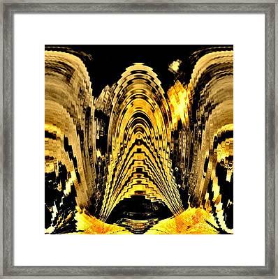 Vibration Abstract Framed Print by Marsha Heiken