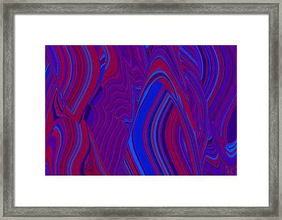 Vibration Wave Framed Print