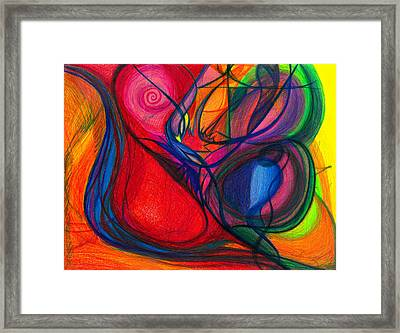 Vibrational Heart Healing - Sounds Of Radiant Joy, Purity Of Heart, Soul, Mind And Body Aligned Framed Print