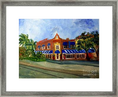 Vic And Angelos In Downtown Delray Beach Framed Print