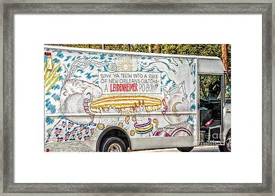 Vic And Nat'ly And The Leidenheimer Po-boy Truck - New Orleans Framed Print