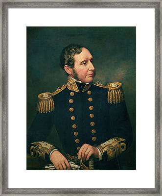 Vice Admiral Robert Fitzroy 1805-65 Admiral Fitzroy Led The Expedition To South America 1834-36 Framed Print