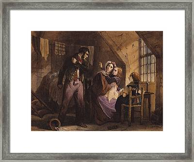 Vice And Virtue   Misery Framed Print by Jules David