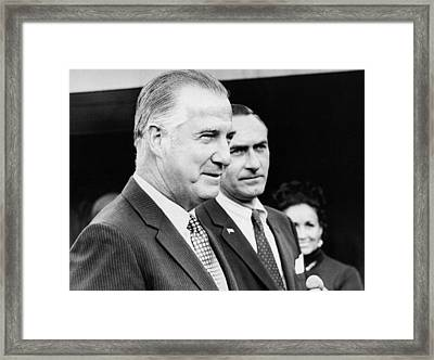 Vice President Spiro Agnew Framed Print by Underwood Archives