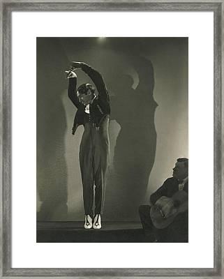 Vicente Escudero Dancing Framed Print