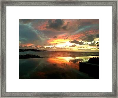 Viceroy Sunset Framed Print