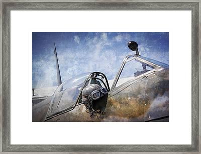 Vickers Spitfire Pilot Cap And Goggles Framed Print