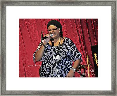 Framed Print featuring the photograph Vicki Stevens by Tonia Noelle