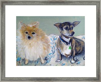 Vick's Dogs Framed Print