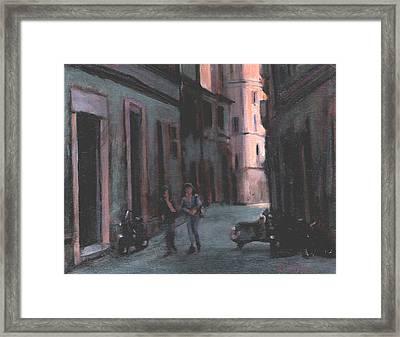 Vicolo Del Troubador Framed Print