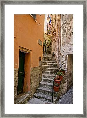 Vicolo Della Valle Riomaggiore Italy Dsc02537  Framed Print by Greg Kluempers