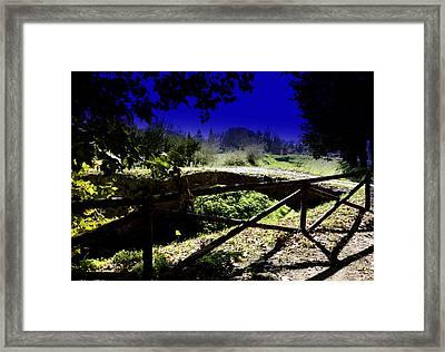 Vicopisano -pisa -little Bridge Framed Print by Daniele Fedi