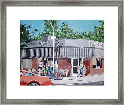 Vic's Ice Cream No. 4 Framed Print by Paul Guyer