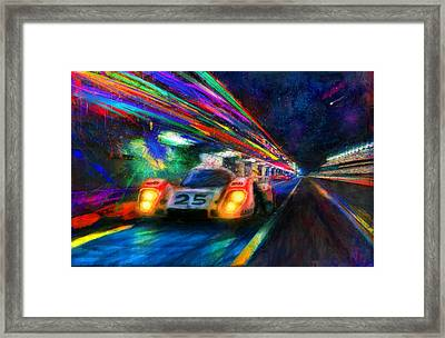 Vic's Night Out Framed Print by Alan Greene
