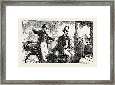 Victims Of The Conscription Enjoying Their Last Moments Framed Print