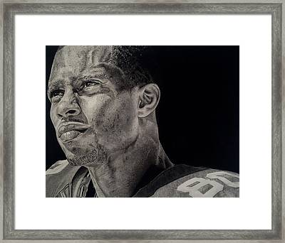 Victor Cruz Drawing Framed Print