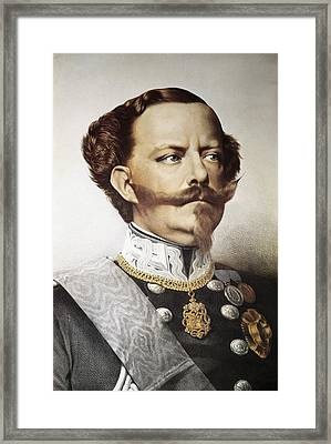 Victor Emmanuel II 1820-1878 Framed Print by Everett