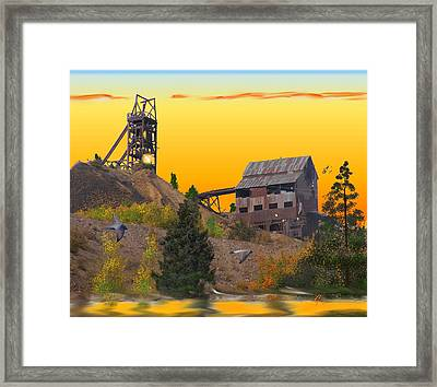 Victor Colorado Gold Mine Framed Print