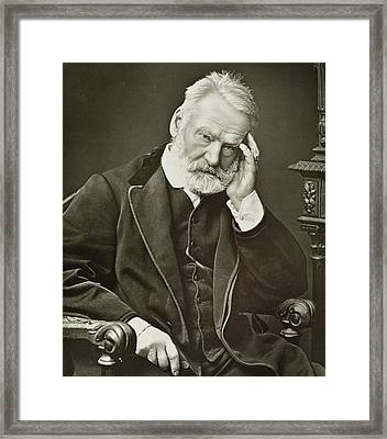 Victor Hugo Framed Print by French Photographer