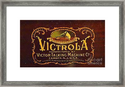 Victor Victrola Label Framed Print