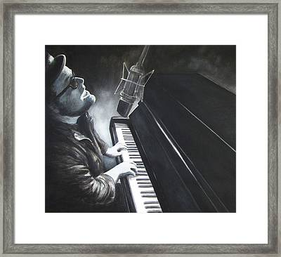 Victor Wainwright And The Wildroots Lit Up Framed Print by Patricia Ann Dees
